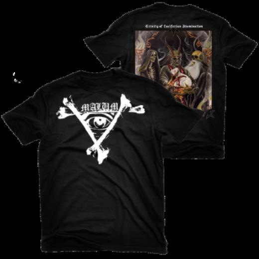 Malum - Trinity of Luciferian Illumination Shirt Size L