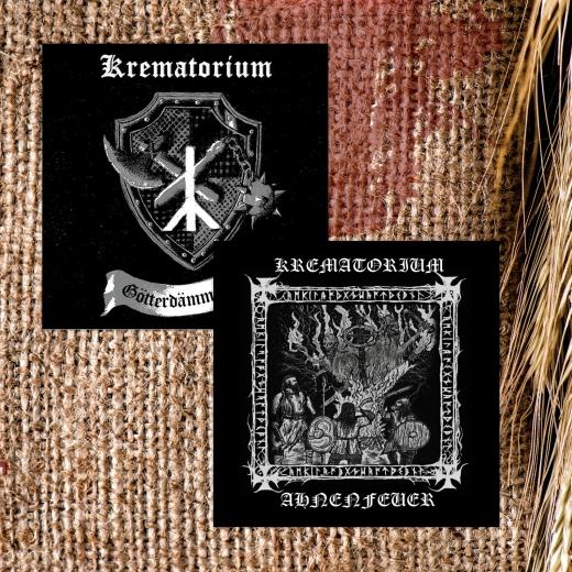 Krematorium - Ahnenfeuer MCD & Götterdämmerung CD mit Plakat