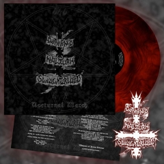 DARKENED NOCTURN SLAUGHTERCULT - Nocturnal March Red Galaxy Vinyl