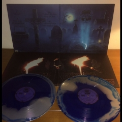 DENIAL OF GOD The Hallow Mass - Silver & Blue Swirl Vinyl
